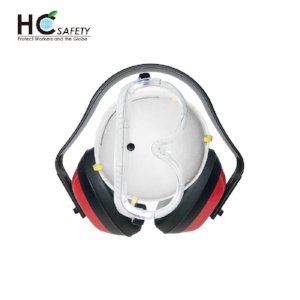 Safety Earmuffs Goggles Respirator H-3